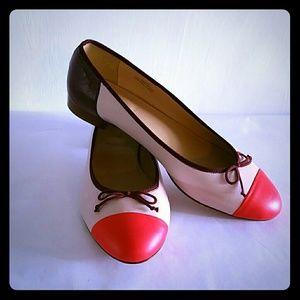 J.CREW 8.0  Ballerina Slips on.Made in Italy